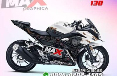 Decal CBR150R Putih Motif Elegan