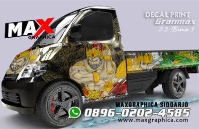 Decal sticker granmax ,Cutting Sticker sidoarjo
